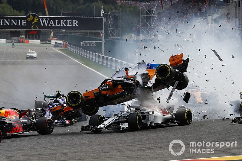 Whiting believes Alonso's tyre could have hit Leclerc