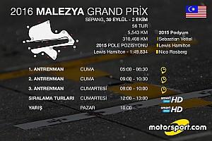 Formula 1 Ön Bakış 2016 Malezya GP saat kaçta hangi kanalda?