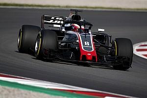Formula 1 Testing report Grosjean quickest as Barcelona test kicks off
