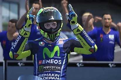 Aksi Valentino Rossi di video game MotoGP 17