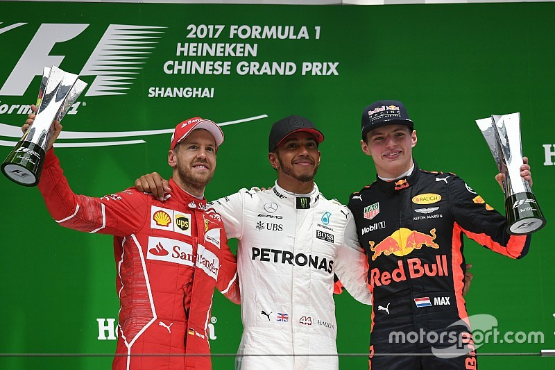 Chinese GP: Hamilton wins as wet start causes fireworks