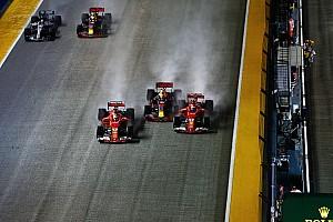 Formel 1 Reaktion F1-Startunfall in Singapur: Verstappen schiebt Schuld auf Vettel