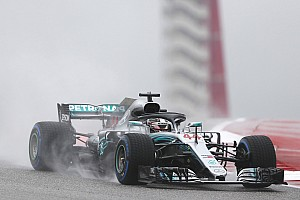US GP: Hamilton leads wet first practice by 1.3s