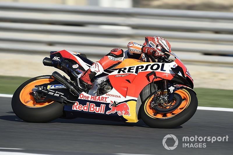 MotoGP, Losail, Libere 3: Marquez al top e Rossi in Q1, Lorenzo cade
