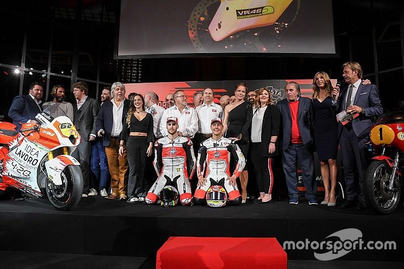 Vernissage à Milan pour l'alliance entre les équipes de Moto2 MV Agusta et Forward Racing