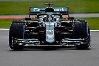 Vettel rodó por primera vez con el Aston Martin AMR21 en Silverstone