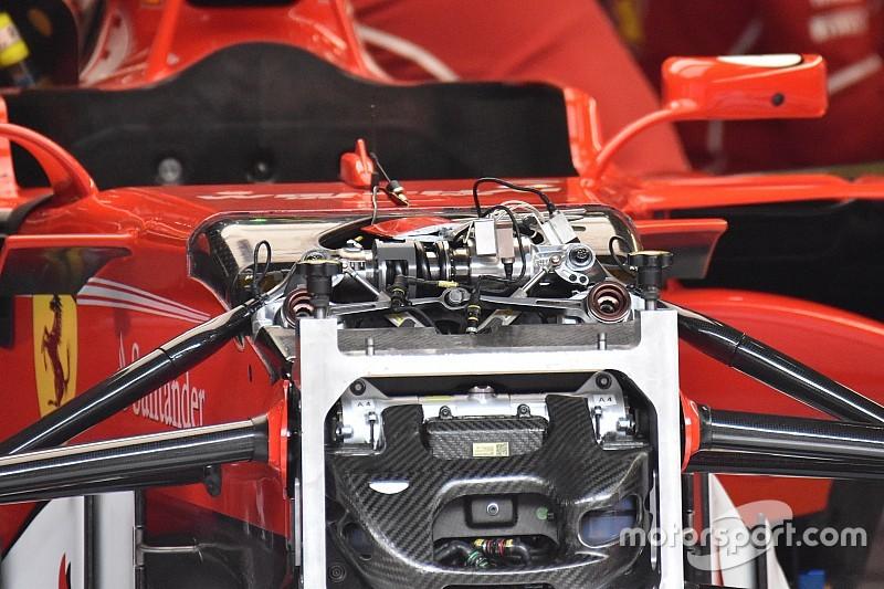 Újdonságokat láthatunk a Ferrari első felfüggesztésében
