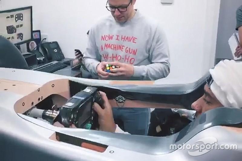 Mercedes senza segreti: ecco il seat fitting di Hamilton per la monoposto 2019