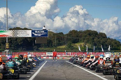 VIDEO: Un piloto pierde la cabeza durante el mundial de karting