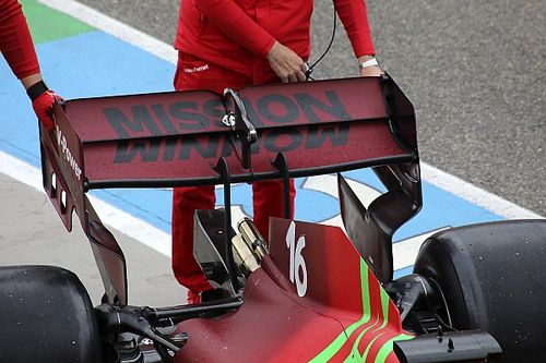 Ferrari: la SF21 adotta l'ala posteriore a cucchiaio