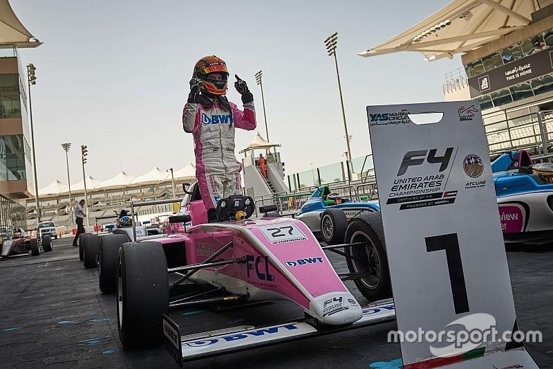 فورمولا 4 الإماراتية: بروز مرشّحَين لنيل اللقب مع اختتام الجولة الثانية في أبوظبي