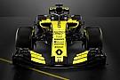 Formule 1 Renault stelt knalgeel met zwarte Formule 1-wagen voor 2018 voor
