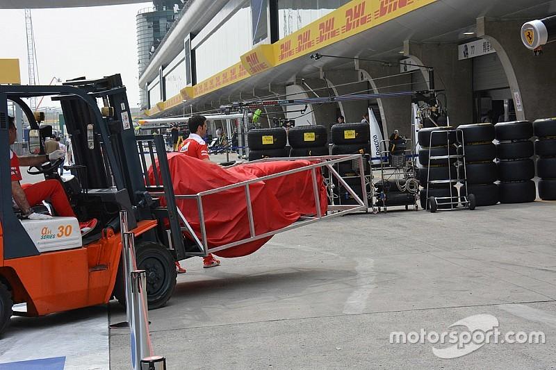 Ferrari: portato un nuovo telaio nudo in verifica