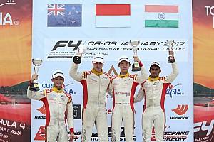 Formula 4 SEA Race report F4/SEA Buriram: Salip 8 mobil, Presley juarai Race 5