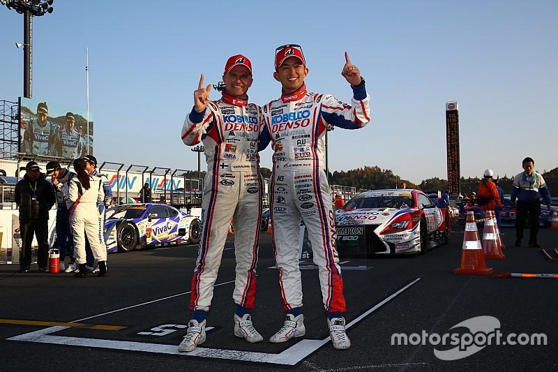 【スーパーGT】1号車の3連覇を絶った39号車コバライネン/平手組がポールトゥウィン!