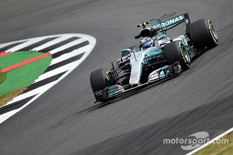 Bottas lideró la primera práctica en Silverstone