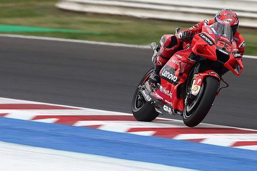 Misano MotoGP: Bagnaia pips Quartararo in FP3, Marc Marquez crashes