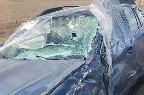 Több ezer kilométert tett meg teljesen pókhálós szélvédővel egy Subaru sofőrje
