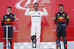 Formula 1 Race report Japanese GP: Hamilton holds off Verstappen to win, Vettel retires