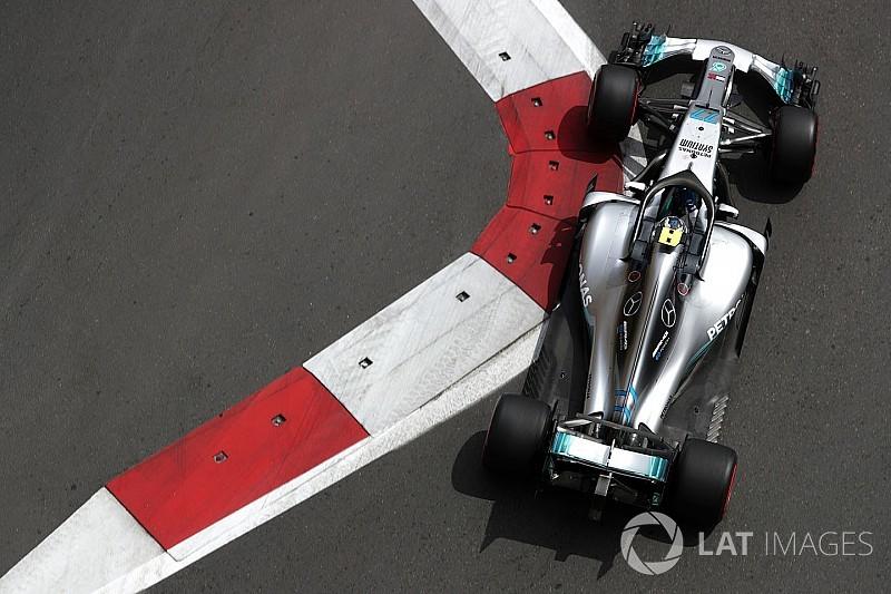 GP Baku, Libere 1: Bottas davanti, Verstappen sbatte, Vettel in crisi