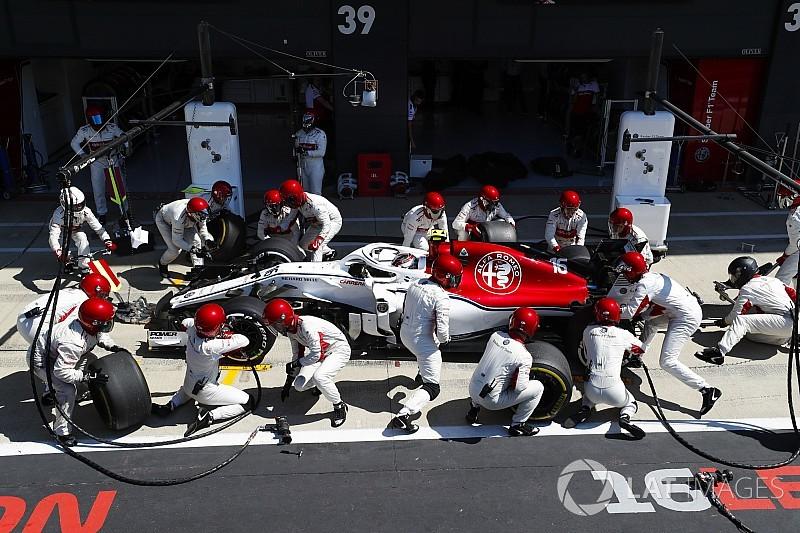Fotogallery: l'Alfa Romeo Sauber nel Gran Premio di Gran Bretagna