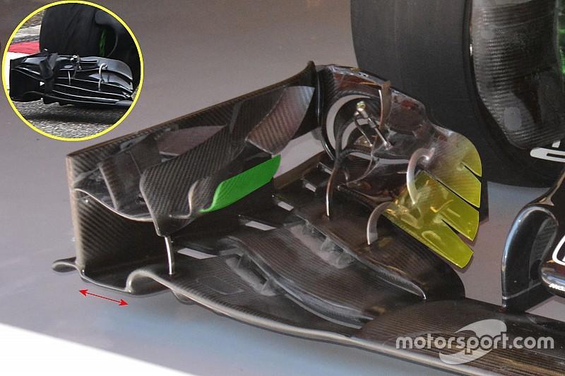 McLaren cambia: ali, cestelli dei freni, cofano e fondo