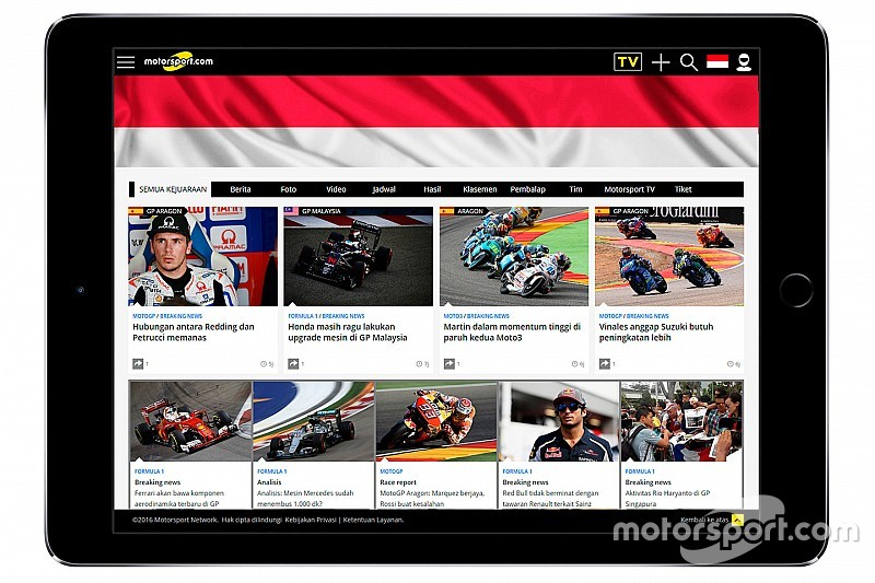 Motorsport.com perluas audiens global dengan peluncuran Motorsport.com – INDONESIA