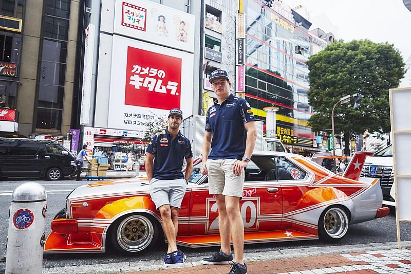 リカルドとフェルスタッペンが街道レーサーで渋谷の街に現れる!