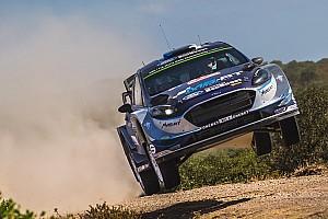 WRC Tappa Ott Tanak in fuga alla fine della seconda tappa in Sardegna
