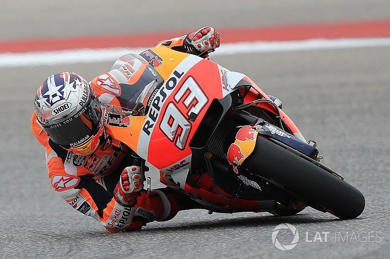 Austin MotoGP: Marquez leads Rossi in first practice