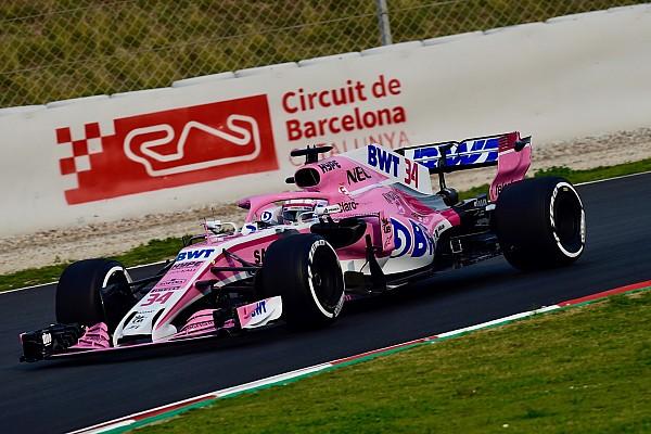 Force India: Latifi, Mazepin e Russell in pista nei test di Barcellona