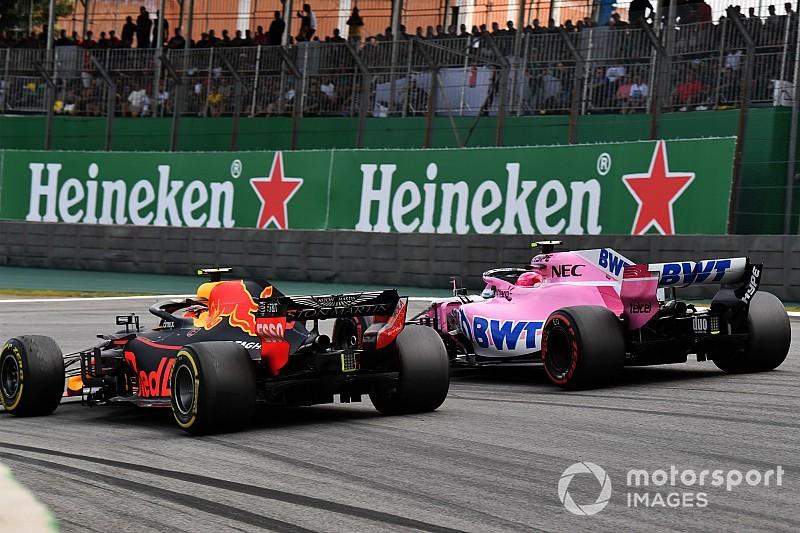 Gallery: Verstappen vs Ocon clash in pictures