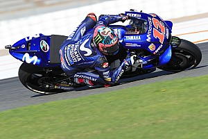 Vinales ends Valencia test on top despite crash
