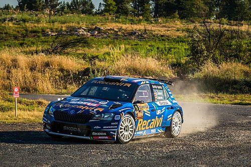 Pleno de Cohete Suárez en el inicio del Rally Ourense
