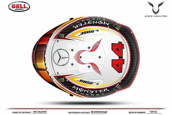 Neues Helmdesign von Lewis Hamilton für F1 2017 steht fest