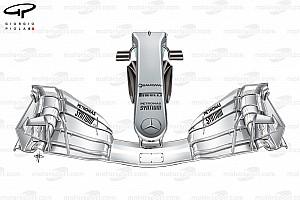 Технический анализ: радикальные новинки в передней части Mercedes