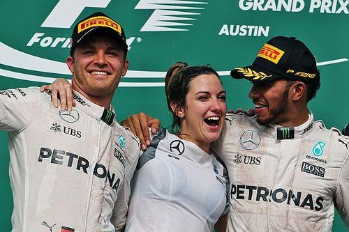 Las mujeres en el podio de la Fórmula 1
