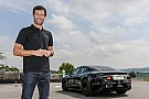 Automotive Mark Webber drives Porsche Mission E on test track