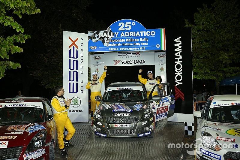 Suzuki Rally Trophy: Giorgio Cogni e Gabriele Zanni in trionfo all'Adriatico