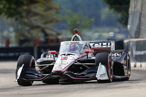 Nouveau top 5 de Grosjean sur la grille à Detroit, Newgarden en pole