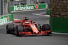 Vettel comenzó el sábado al frente en Bakú