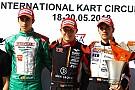 Kart Hiltbrand, nuevo líder del Europeo OK y Vidales, en el podio