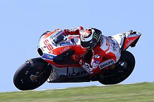 MotoGP Новость Отсутствие винглетов осложнило тесты Ducati в Австралии