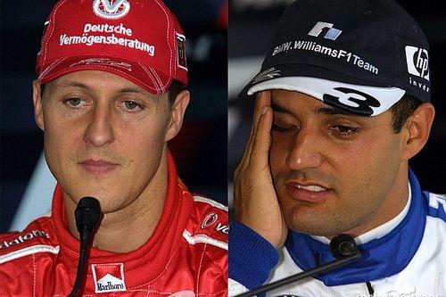 Montoya és Schumacher nagy csatája – a kolumbiai kiakadt! (videó)