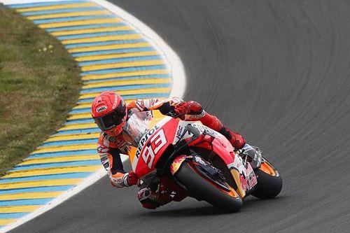 French MotoGP: Marquez quickest in wet third practice