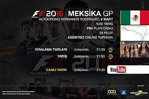 FORMULA 1 LİGİ Son dakika F1 2016 online turnuva: Meksika GP - Canlı Yayın