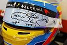 Alonso dá primeira pista de como será seu novo capacete