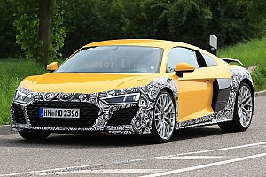 Automotive Breaking news Audi R8 spied with revised face and massive oval exhaust tips
