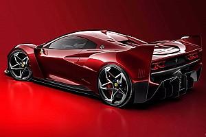El tributo futurista al Ferrari F40