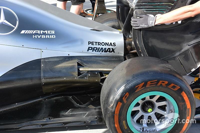 Технический брифинг: система охлаждения Mercedes W07